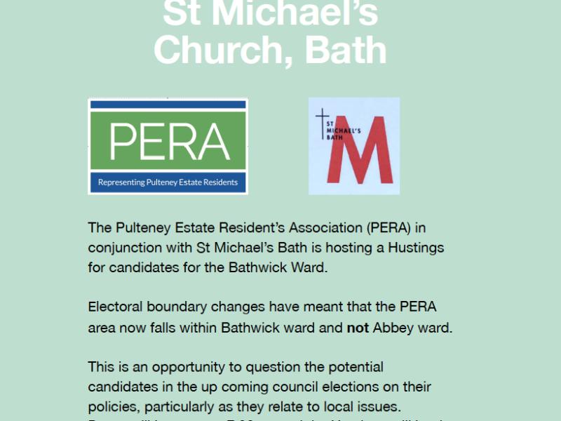 Bathwick Ward Election Hustings